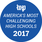 Washington Post logo that says America's most challenging High Schools 2017